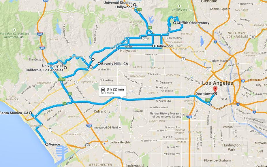 Tahmini Los Angeles Rotası