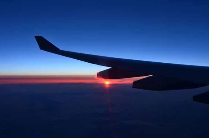Airplane-Sunset-Wallpaper-for-Android