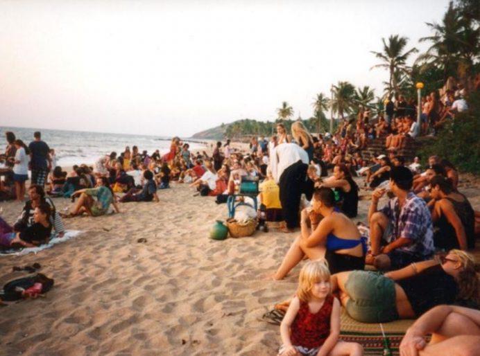 anjuna - plajı - goa - hindistan