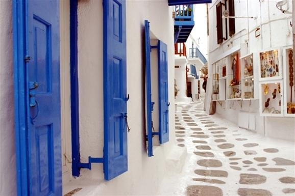 Mikonos _sokakları