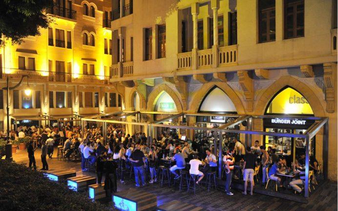 lübnan - beyrut- geceleri - sokaklar