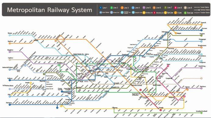 Güney kore Seul Metro