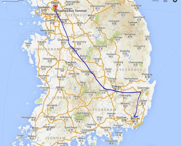 Güney Kore Rotamız-Seul-Gyeongju-Busan