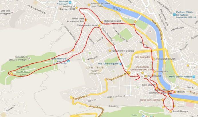 Tiflis Gezilecek Yerlerin Rotaları