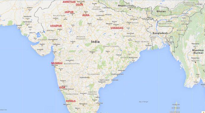 Hindistan'da Gezilecek Önemli Şehirler (Kabaca)