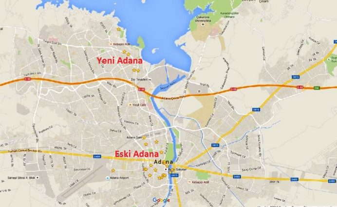 Yeni Adana Eski Adana haritası