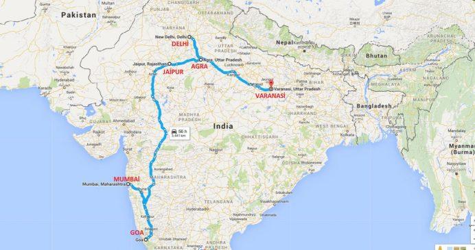 Bizim Hindistan Rotamız (Mumbai-Goa-Jaipur-Agra-Delhi-Varanasi)