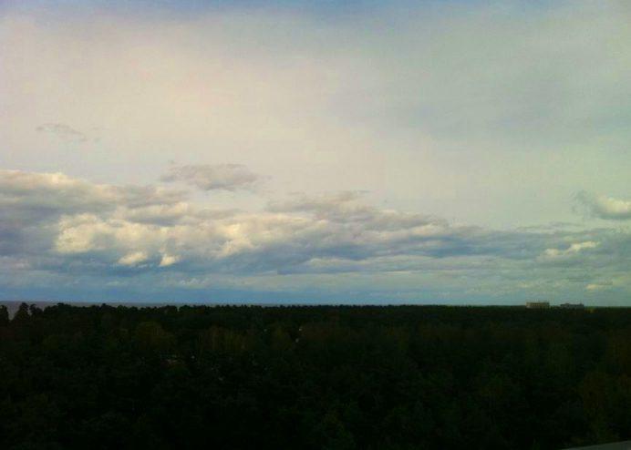 Yemyeşil bir coğrafyada bulunan Letonya toprakları.
