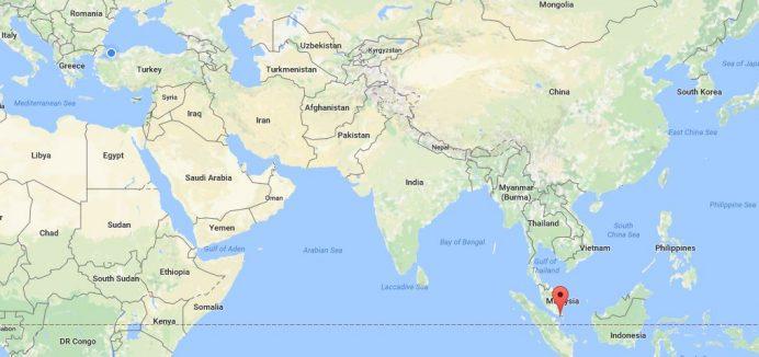 Singapur-harita