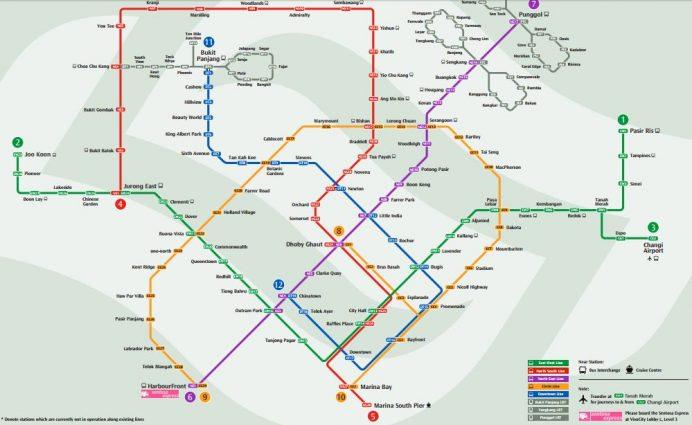 singapur - ulaşum - metro - haritası