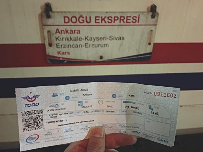 doğu ekspresinin bileti