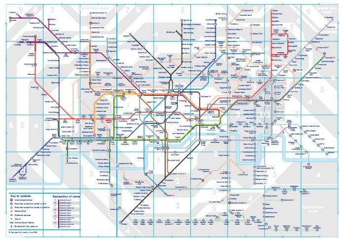 londra - metrosu - haritası