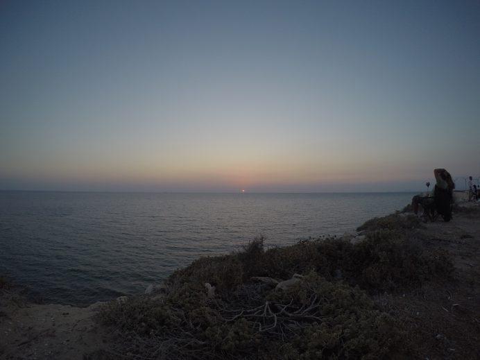 Gün batımı resimi - bozcaada
