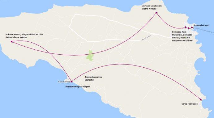 bozcaada-gezilecek-yerler-haritası