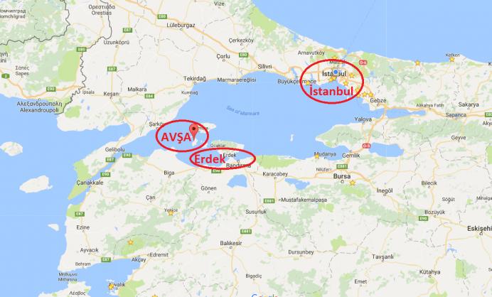avsa adası nerede