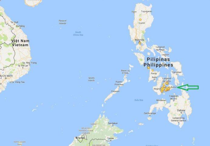 Bohol-Adası-Nerede