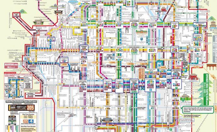 kyoto şehir içi otobüs ulaşım haritası