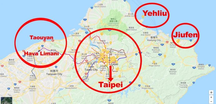 tayvan nerede harita konumu