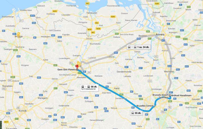 Brüksel-Havalimanından-Gent'e-Ulaşım