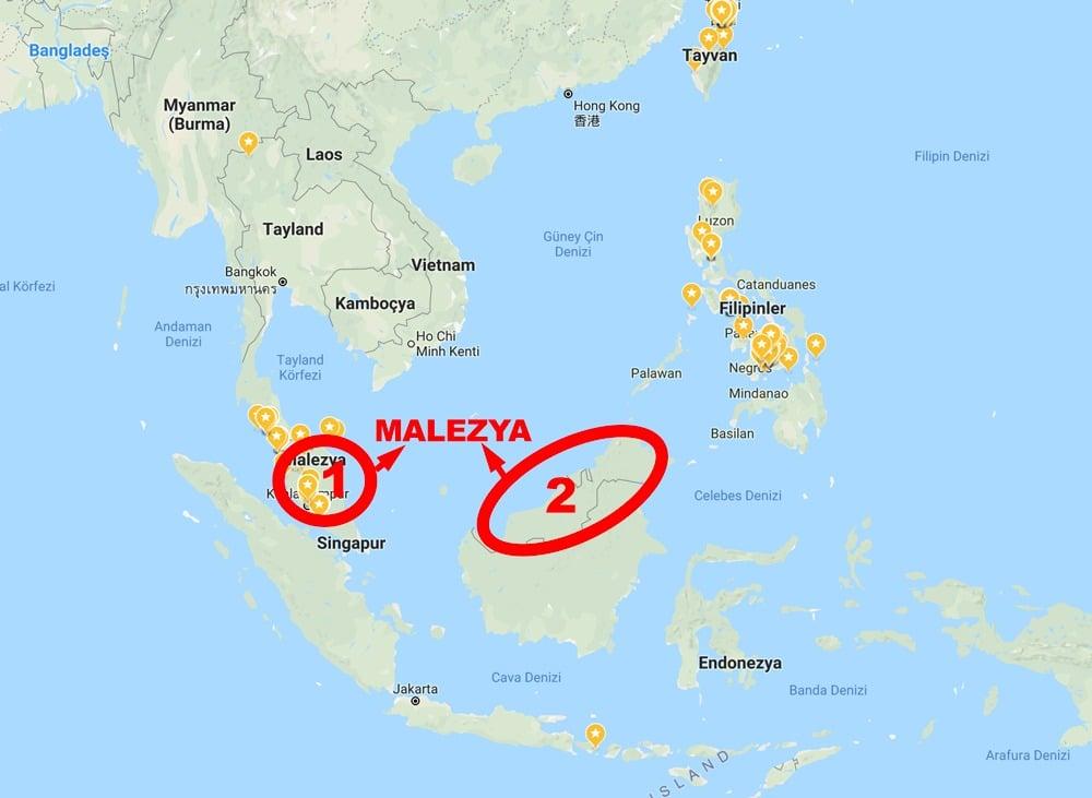 Malezya Nerede Malezya Dini Nedir Malezya Nüfusu Ve Haritası