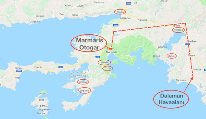 marmaris_ulasim marmaris nerede nasıl gidilir