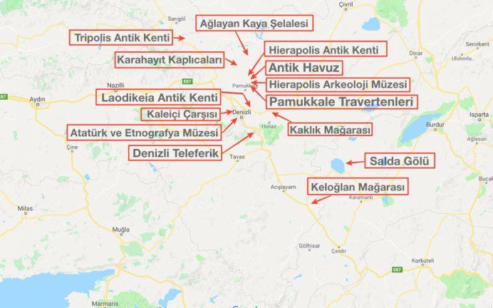 denizli_gezilecek_yerler_harita