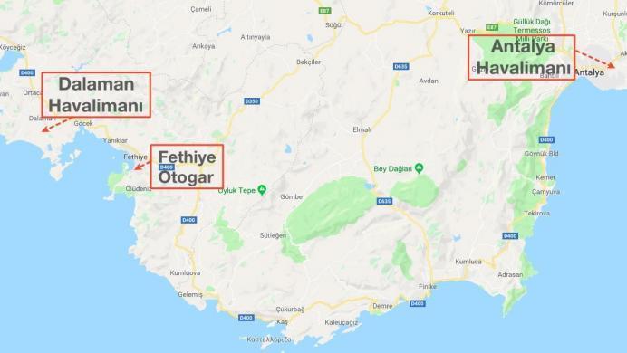 fethiye_nerede_havalimani_harita
