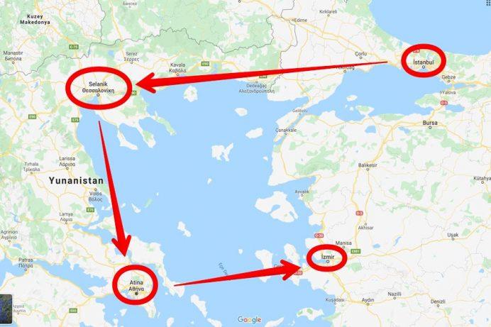 selanik nerede haritası