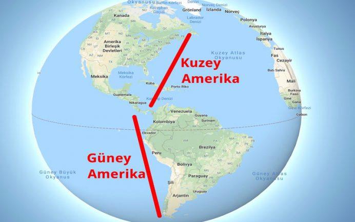Amerika kıtası haritası