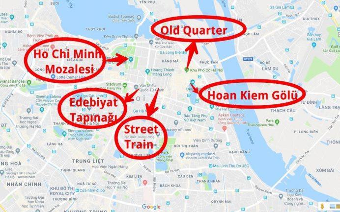 hanoi gezilecek yerler haritasi