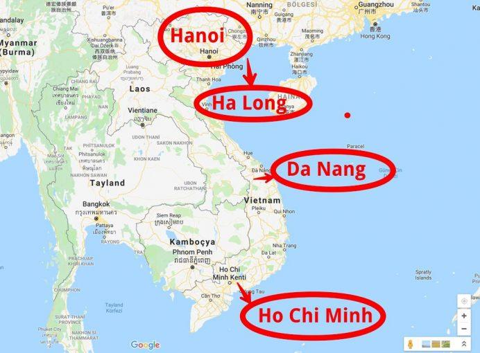 hanoi nerede haritasi