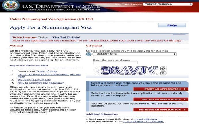 amerika vizesi online başvuru