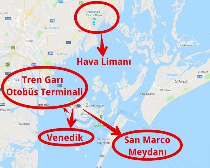 Venedik Nerede Nasıl Gidilir Haritası