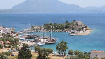 Datca gezilecek yerler liman genel fotoğrafı