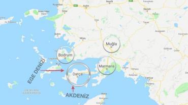 Datça nerede haritası