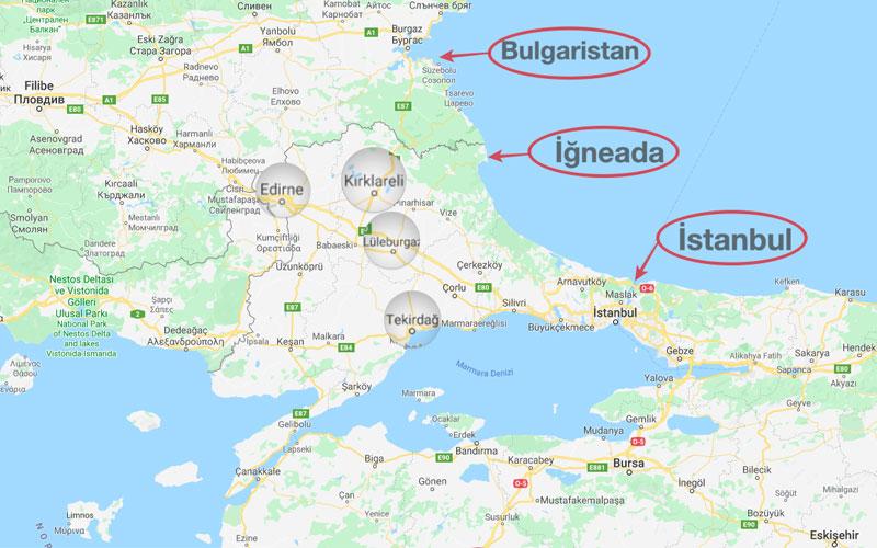 İğneada nerede harita