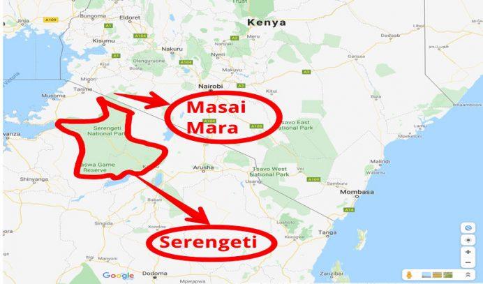afrikada safari turu masai mara nerede haritası
