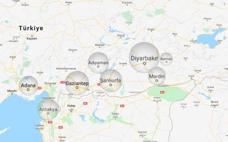 Diyarbakir nerede harita