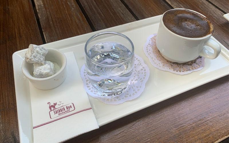 Sülükla Han'da menengiç kahvesi