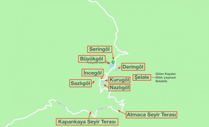 bolu_yedigoller_gezilecek_yerler_harita
